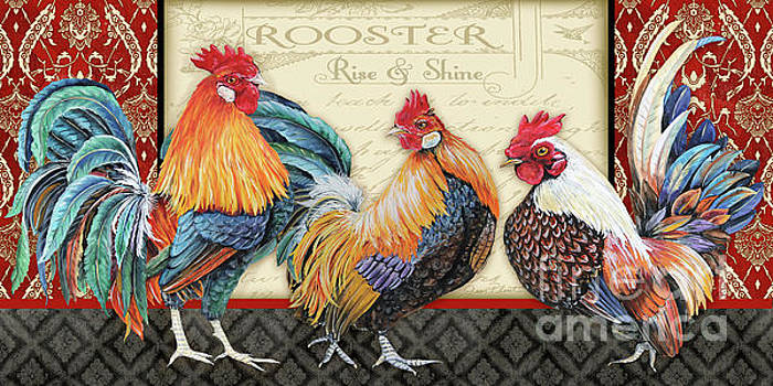 Damask Rooster-E by Jean Plout