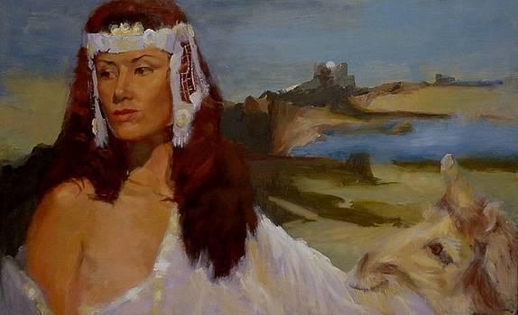 Dame with Unicorn by Irena Jablonski