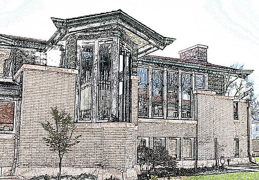 Dana Thomas House Sketch by Sue Houston