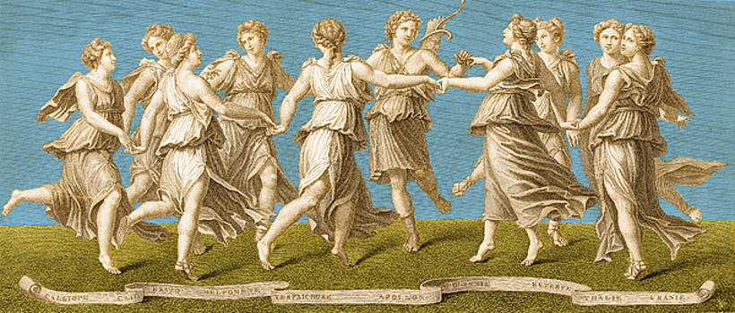Photo Researchers - Dance Of Apollo With The Nine Muses