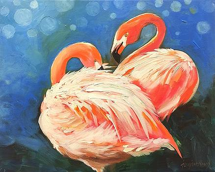 Dance Of The Flamingo by Jun Jamosmos