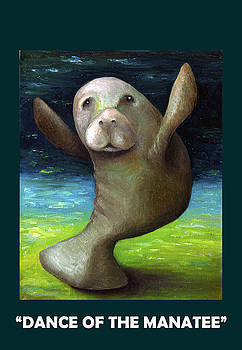 Leah Saulnier The Painting Maniac - Dance Of The Manatee with Lettering