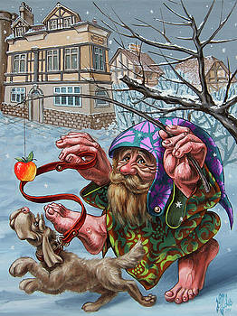 Dance With an Apple by Victor Molev