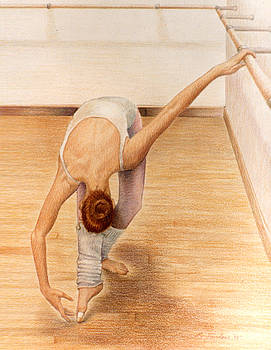 Phyllis Tarlow - Dancer Bending at Barre