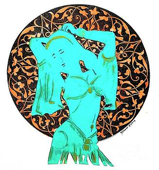 Dancer in Turquoise 01 by Yvonne Ayoub