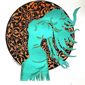 Dancer in Turquoise 02 by Yvonne Ayoub