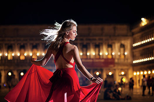 Dancer in Venice by Cristian Mihaila