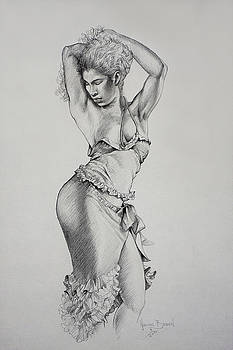 Dancer Muse Study by Harvie Brown