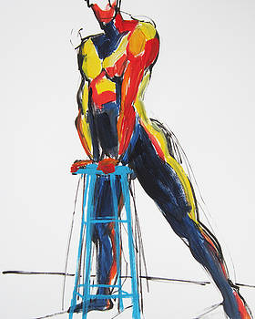 Dancer with Drafting Stool by Shungaboy X