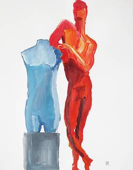 Dancer with Mannekin by Shungaboy X