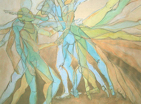 Dancers - 21 by Caron Sloan Zuger