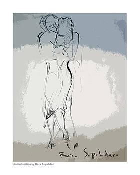 Dancers embrace by Reza Sepahdari