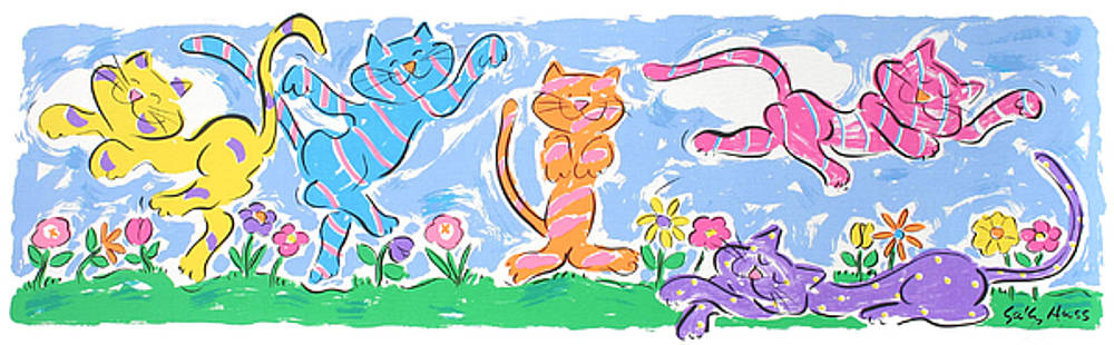 Dancing Cats by Sally Huss