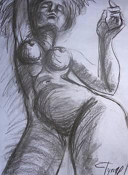 Dancing - Female Nude by Carmen Tyrrell