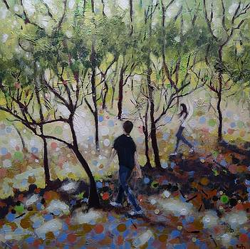 Dancing in Rolleston Woods by Ruth Gray