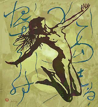Dancing Nude - Pop Art Poster  by Kim Wang