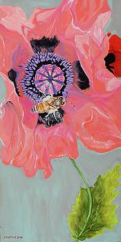Dancing Pink Bee by Pamela Trueblood