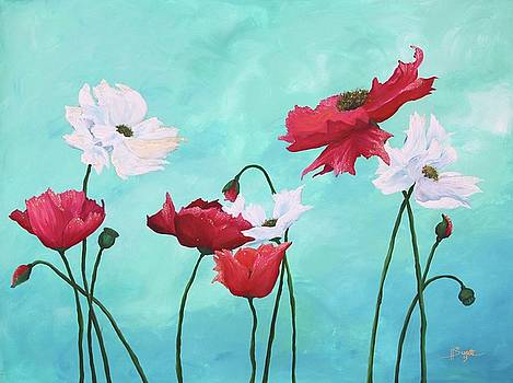 Dancing Poppies by Heather Sweatte