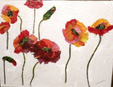 Dancing Poppies by Phyllis Hollenbeck