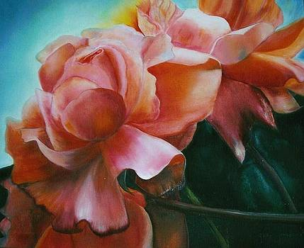 Dancing  Roses by Geri Jones