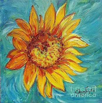 Dancing Sunflower  by Jeanne Forsythe