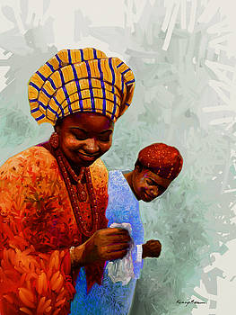 Kanayo Ede - Dancing Time - Colorful African Couple Dancing