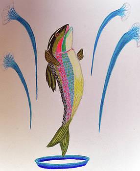 Dancing Trout by Lisa Von Biela