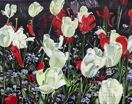 Dancing tulips by Marilyn  McNish