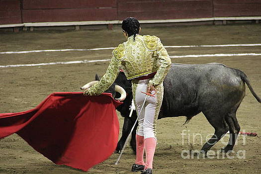 Dancing with the Bull Tlaxcala Mexico by Linda Queally