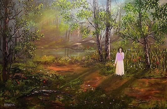 Dandelion In The Breez by Michael Mrozik
