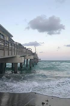 Dania Beach Ocean Park Pier by Art Block Collections