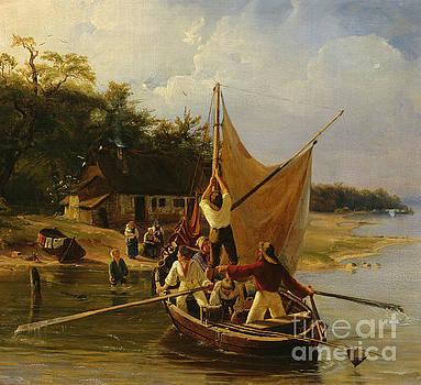 Danish fishermens homecoming by Adolph Tidemand