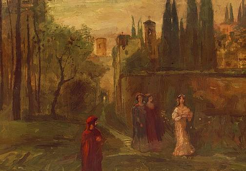 Dante Meeting With Beatrice 1907 by Gulacsy Lajos