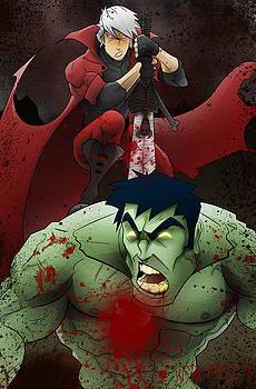 Dante vs. The Hulk by Justin Peele
