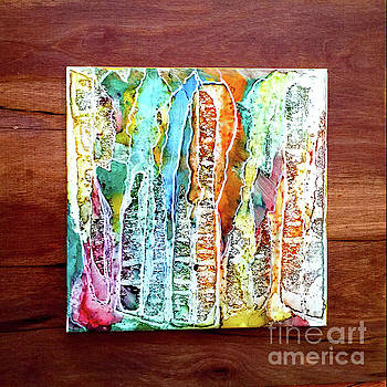 Danxia Water Falls by Alene Sirott-Cope