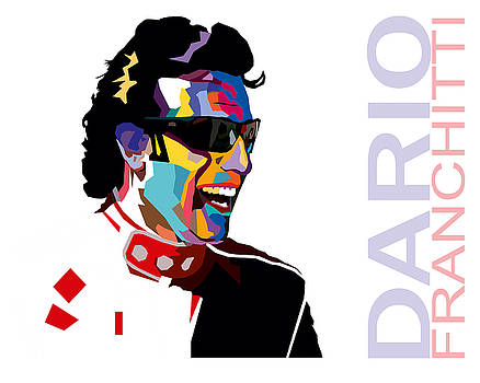 Dario Franchitti Pop Art Style by Jim Bryson