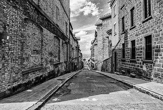 Dark Alley Old Quebec by Darcy Michaelchuk