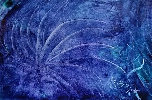 Dark blue abstract by Lorraine Bradford