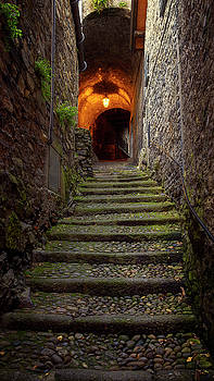 Dark District Varenna Italy by Joan Carroll