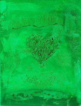 Dark Green Paper Heart - variation by Alexandra Schumann