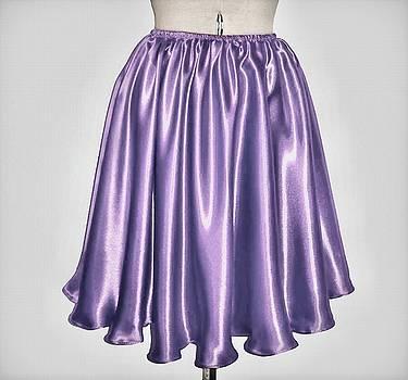 Sofia Metal Queen - Dark lavender satin skirt. Ameynra by Sofia