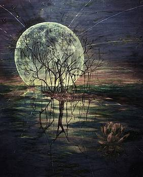 Dark moon rise by Michael African Visions