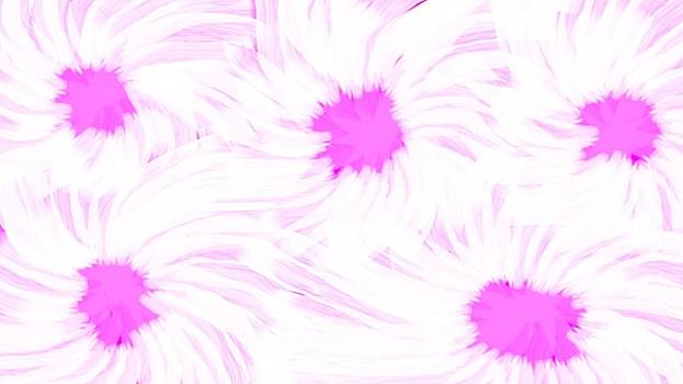 'Dark Pink And White Flower Abstract' by Linda Velasquez