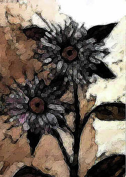 Dark Sunflowers Redux by Lisa Purcell