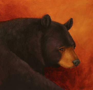 Darkly Dreaming Bear by Monica Burnette