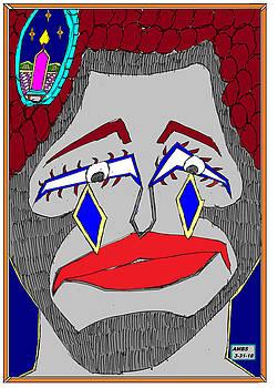 Darky Face with diamond tears by Anthony Benjamin