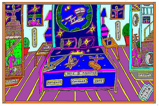 darky fantasy bedroom in Paradise by Anthony Benjamin