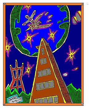 Darky Flying Over Pyramid Bldg by Anthony Benjamin