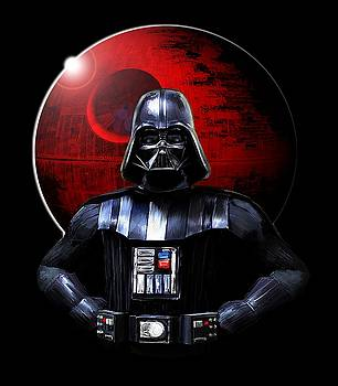 Darth Vader and Death Star by Michael Greenaway