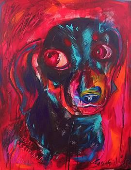 Daschund in Red by Susan Gauthier